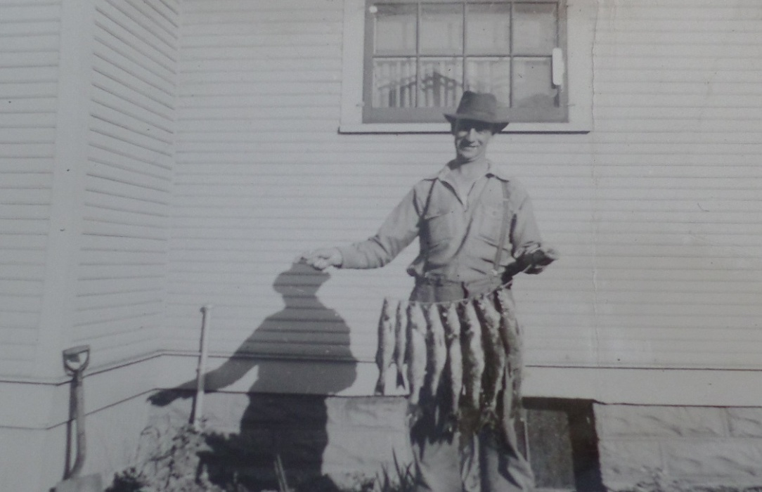 Great Grandpa Loney with the catch of the day.